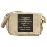 Alexander hamilton quote Canvas Messenger Bags