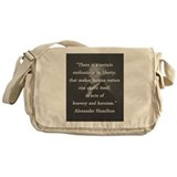 Alexander hamilton quote Canvas Messenger Bags