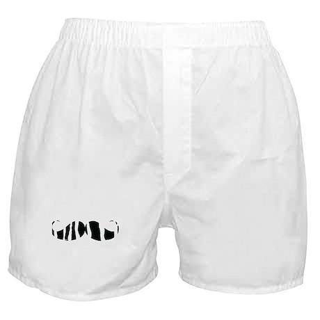Moustache zebra print Boxer Shorts