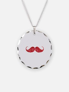 Strawberry moustache Necklace