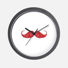 Strawberry moustache Wall Clock