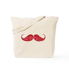 Strawberry moustache Tote Bag