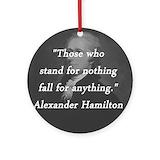 Alexander hamilton Round Ornaments