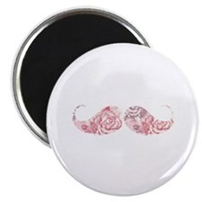 "FLower moustache 2.25"" Magnet (10 pack)"