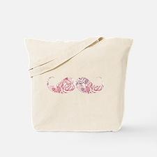 FLower moustache Tote Bag