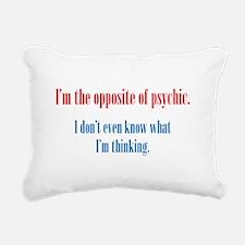 Opposite of Psychic Rectangular Canvas Pillow