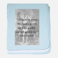 Crockett - Party In Power baby blanket