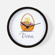 Easter Basket Dona Wall Clock