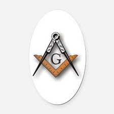 Masonic Square and Compass Oval Car Magnet