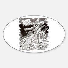 Calavera Zapatista Oval Decal