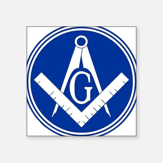 """Masonic Square and Compass Square Sticker 3"""" x 3"""""""