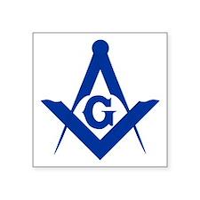 """Masonic Square and Compass Square Sticker 3"""""""