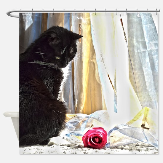 Kitty and rose Shower Curtain