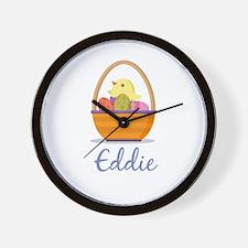 Easter Basket Eddie Wall Clock