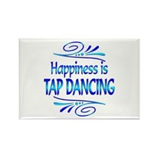 Happiness is Tap Dancing Rectangle Magnet (100 pac