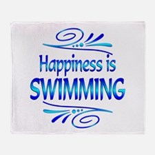 Happiness is Swimming Throw Blanket