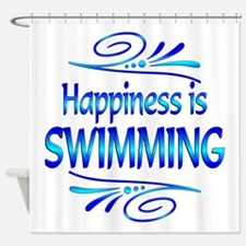Happiness is Swimming Shower Curtain