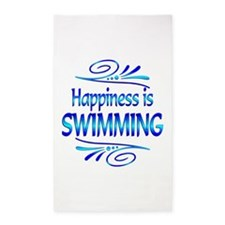 Happiness is Swimming 3'x5' Area Rug