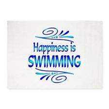 Happiness is Swimming 5'x7'Area Rug