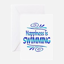 Happiness is Swimming Greeting Card