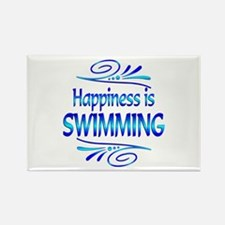 Happiness is Swimming Rectangle Magnet