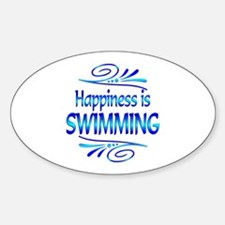 Happiness is Swimming Decal