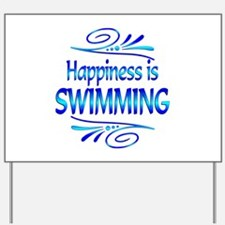 Happiness is Swimming Yard Sign