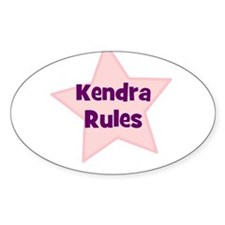 Kendra Rules Oval Decal