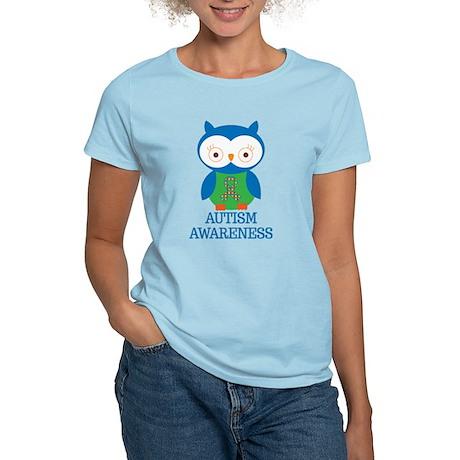 Autism Awareness Owl Women's Light T-Shirt