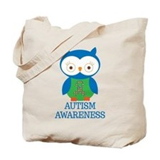 Autism Awareness Owl Tote Bag