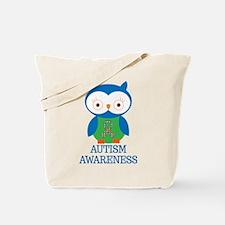 Autism Awareness Owl Tote Bag