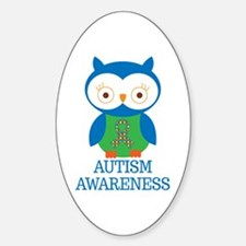 Autism Awareness Owl Decal