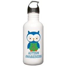 Autism Awareness Owl Water Bottle