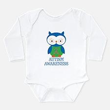 Autism Awareness Owl Long Sleeve Infant Bodysuit