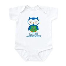 Autism Awareness Owl Infant Bodysuit