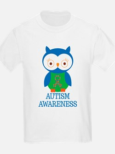 Autism Awareness Owl T-Shirt