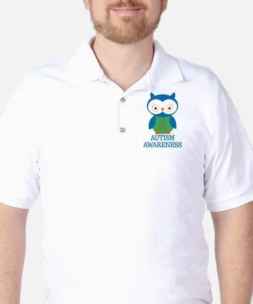 Autism Awareness Owl Golf Shirt