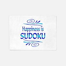 Happiness is Sudoku 5'x7'Area Rug