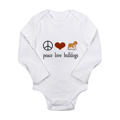 Peace Love Bulldogs Body Suit