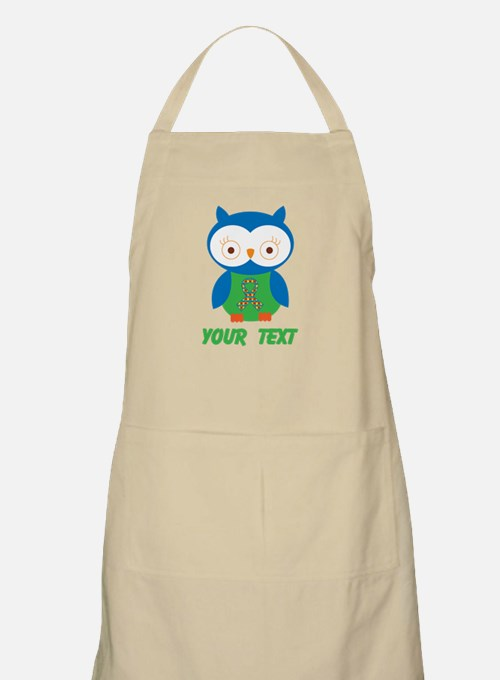 Personalized Autism Owl Apron