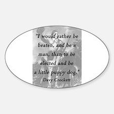 Crockett - Little Puppy Dog Decal