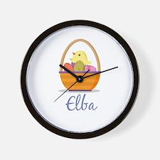 Easter Basket Elba Wall Clock