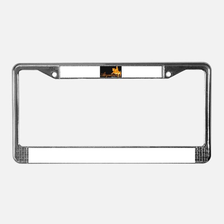 Abyssinian Orginal License Plate Frame