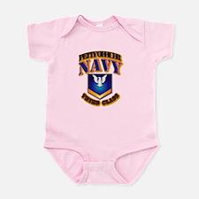 NAVY - PO3 - Gold Infant Bodysuit
