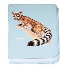 Ringtail Wild Cat baby blanket