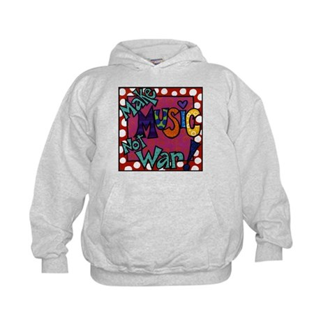Make Music Not War! Kids Hoodie