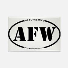Air Force Wife (Oval) Rectangle Magnet