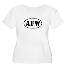 Air Force Wife (Oval) Plus Size T-Shirt