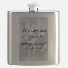 Crockett - Be Always Sure Flask