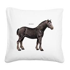Percheron Horse Square Canvas Pillow